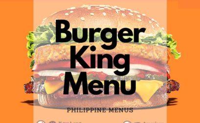 Burger King Menu Cover