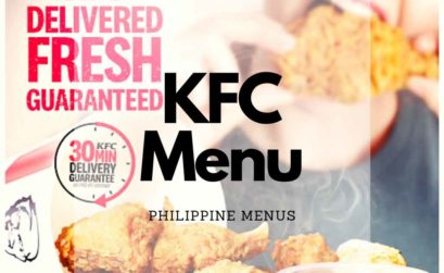 KFC Chicken bucket with a text that says delivered fresh guaranteed