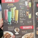 Drink Menu At Pizza Hut