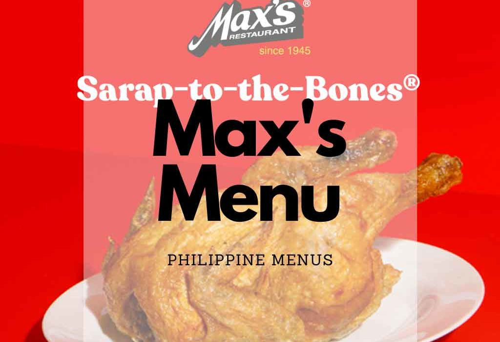 Whole Max Fried chicken on red background that says Sarap to the bones