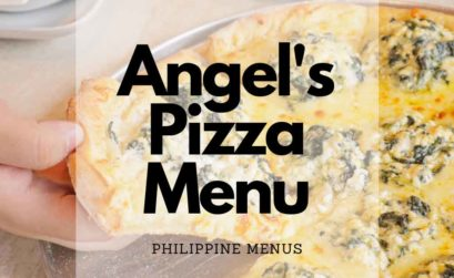 Angel's Pizza Menu Cover