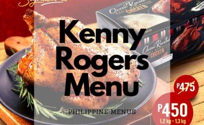 Kenny Rogers menu Cover