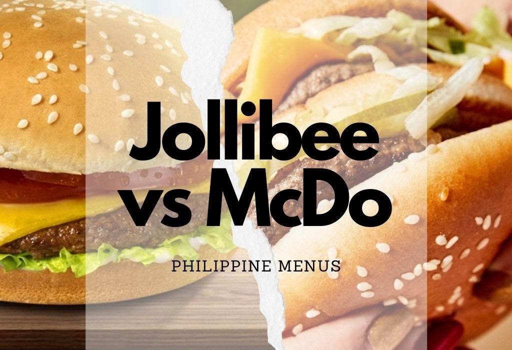 Jollibee Burger and Mcdo burger side by side