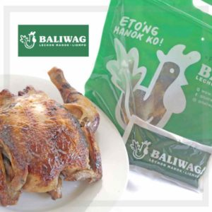 Baliwag Lechon Manok on the left with the green packaging on the right