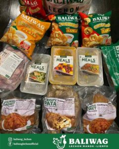 Philippines Baliwag Ready To Heat meals like bagnet crispy pata and chicharon on top